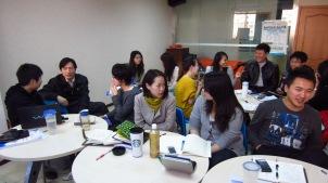 Spoken English classes at Xueyuanlu, Beijing