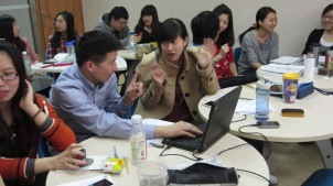 Spoken English classes at Xueyuanlu, Beijing