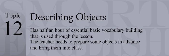 12 - Describing Objects