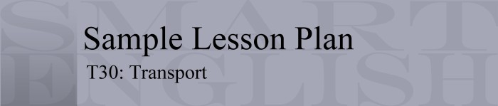 Sample Lesson Plan - Transport